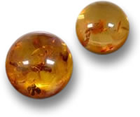 Round Amber Cabochons