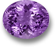 Oval Faceted Amethyst Gemstone
