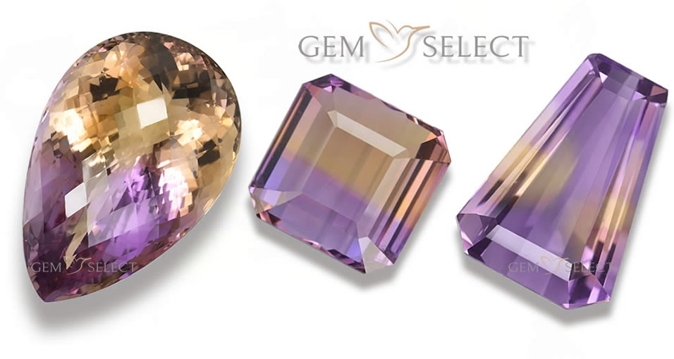 Large Photo of a Color Blocking Gem - Ametrine