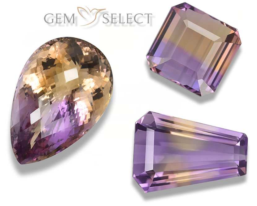 Natural Ametrine Gems from GemSelect - Large Image