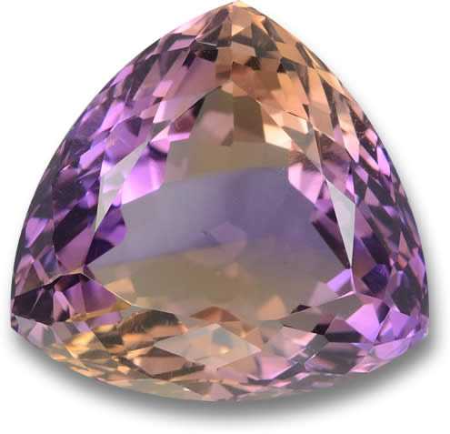 Trillion-Shaped Ametrine Gemstone from Bolivia