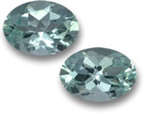 Oval Aquamarine Pair