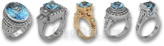 Aquamarine Rings by GemSelect