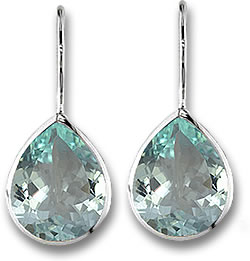 Pear Shaped Aquamarine Earrings