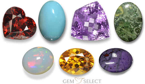 Aquarius Zodiac Stones from GemSelect - Medium Image