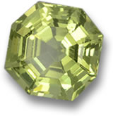 Asscher-Cut Pale Green Apatite Gem
