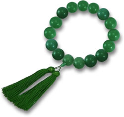 Beaded Aventurine Bracelet with Tassel