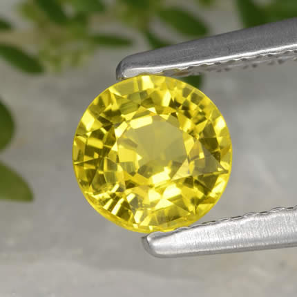 Heated Yellow Sapphire Gemstone