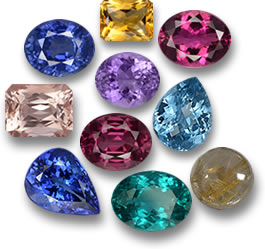 Some Popular Gems of 2016: Sapphire, Citrine, Rubellite Tourmaline, Morganite, Rhodolite Garnet, Topaz, Tanzanite, Apatite and Rutile Quartz