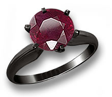 Black Gold Ruby Engagement Ring