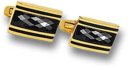 Black Spinel and Gold Cufflinks