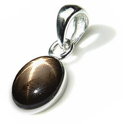 Black gemstone jewelry en vogue black star sapphire silver pendant aloadofball Choice Image