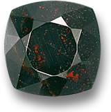 Cushion-cut Bloodstone