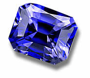 Blue Benitoite Gemstone