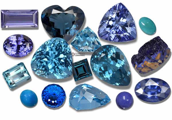 Red Blue Stone : Blue gemstones list of precious semi gems