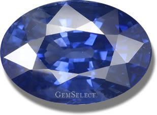 Oval Faceted Heated Blue Ceylon Sapphire