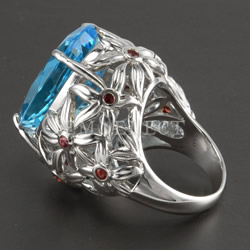 Silver Blue Topaz Ring by GemSelect