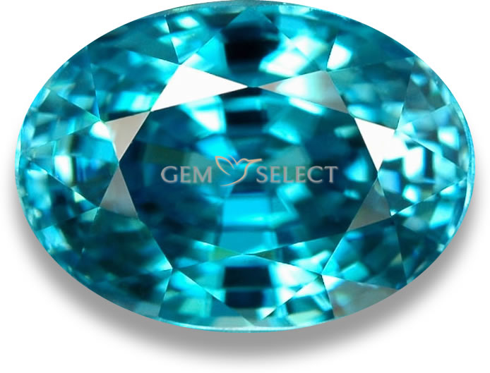 Blue Zircon Gemstone from GemSelect - Large Image
