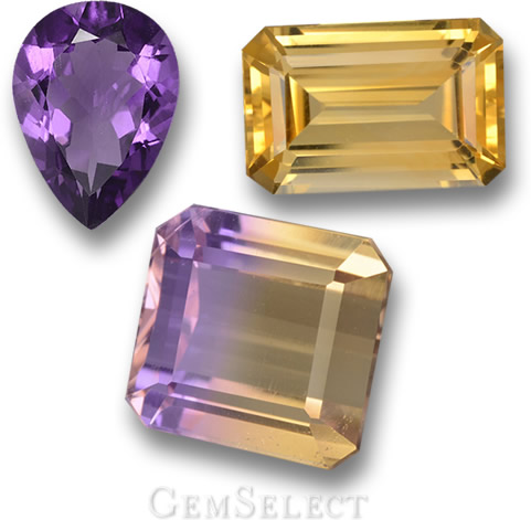 Amethyst, Citrine and Ametrine from Bolivia