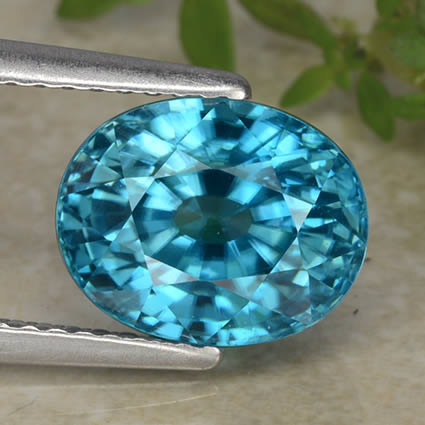 Bright and Brilliant Blue Zircon