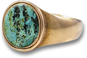 Bronze Turquoise Cabochon Ring