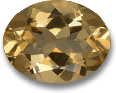 Brownish Golden Beryl Gemstone
