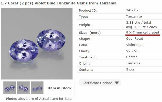 Gemstone Detail Page from GemSelect - Large Image
