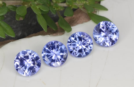 Calibrated Round Tanzanite Gemstones