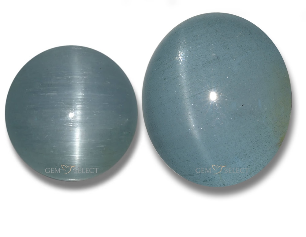 Cat's Eye Aquamarine Gemstones from GemSelect - Large Image
