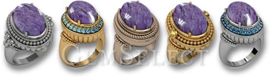 Charoite Rings by GemSelect