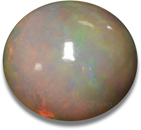 Multicolor chocolate opal gemstone