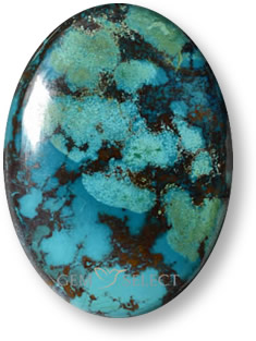 Multicolor chrysocolla gemstone