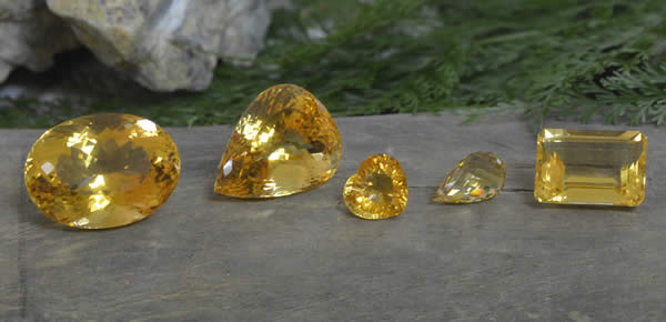 Various Citrine Gemstones