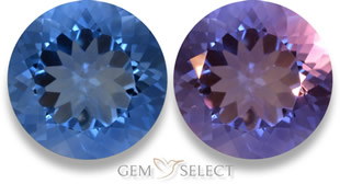 Multicolor color-change fluorite gemstone