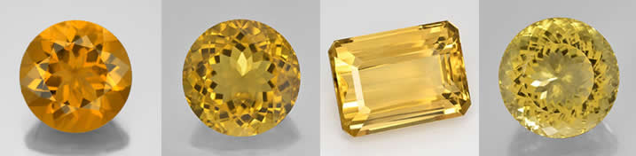 An Image Displaying the Typical Color Range of Citrine