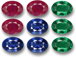 Colored Gemstone Matching Grid