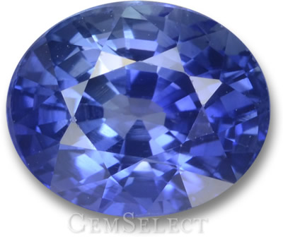 Cornflower-Blue Ceylon Sapphire from GemSelect