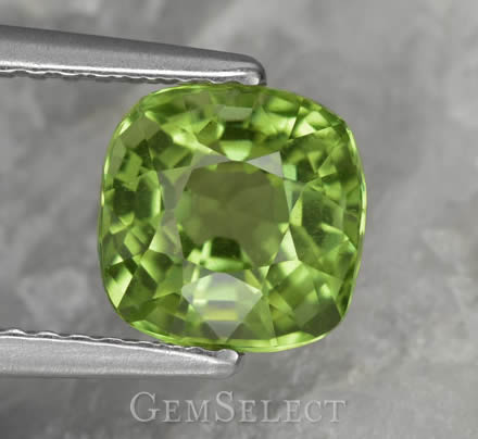 Cushion-Cut Peridot Gemstone