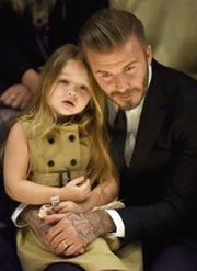 David Beckham with his Daughter, Harper Seven