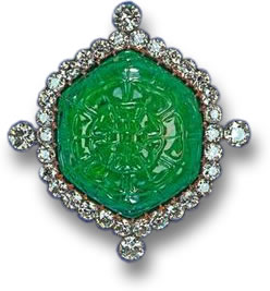 The Delhi Durbar Emerald Brooch