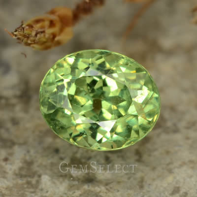 Demantoid Garnet Gem with Natural Inclusions