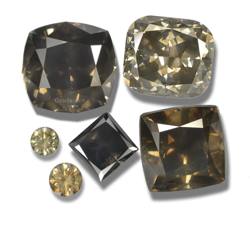 A Collection of Fancy Color Diamond Gemstones from GemSelect - Large Image