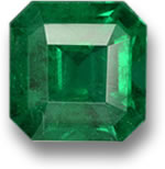 Emerald-Cut Zambian Emerald