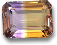 Emerald-Cut Ametrine Gem