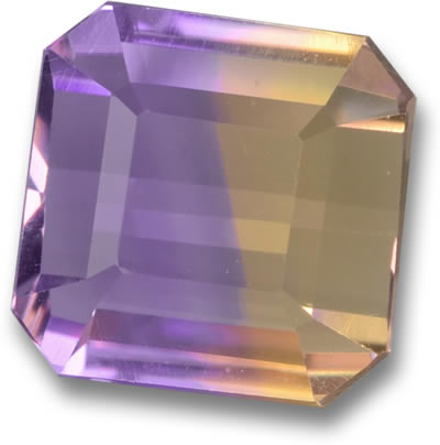 Emerald-Cut Ametrine Gemstone