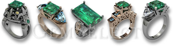 GemSelect Natural Emerald Rings