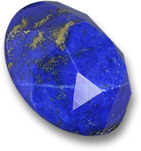 Modified Rose-Cut Lapis Lazuli Gem
