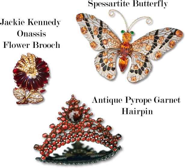 Images of Famous Garnet Jewelry - Medium Image