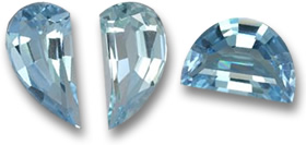Fancy Swiss Blue Topaz Gems