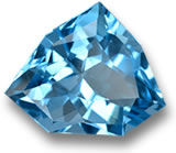Fancy-Shaped, Faceted Blue Topaz Gem